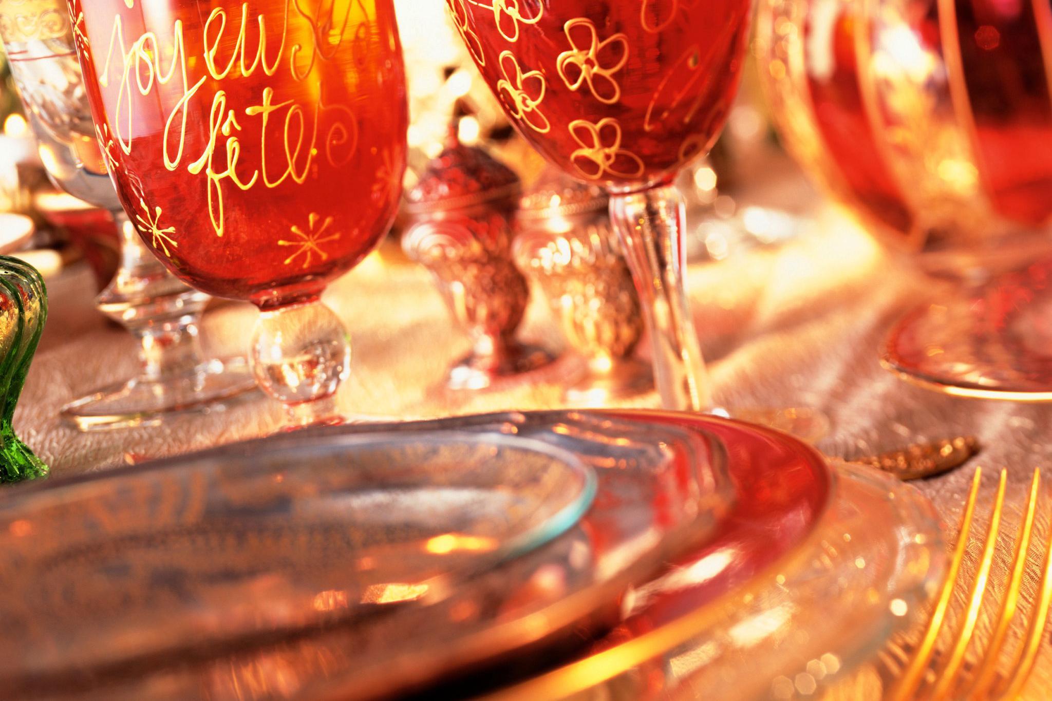 Les repas de fêtes de fin d'année.